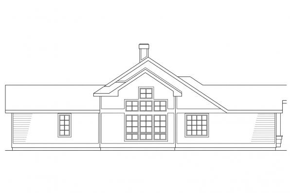 Ranch House Plan - Austin 10-051 - Right Elevation