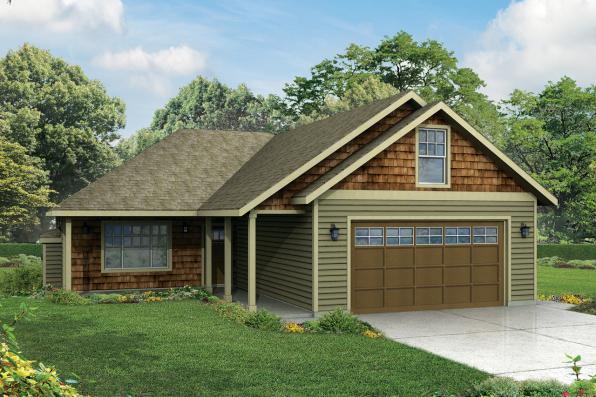 Ranch House Plan - Belmont 30-945 - Front Elevation