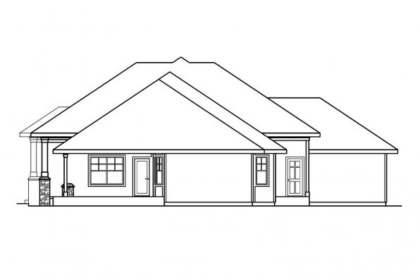 Ranch House Plan - Belvedere 30-280 - Left Elevation