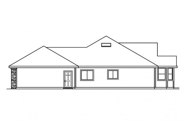 Ranch House Plan - Bennett 30-281 - Left Elevation