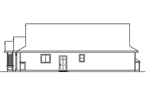 Ranch House Plan - Bradford 30-189 - Left Elevaton