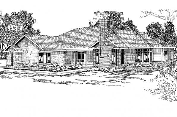 Ranch House Plan - Bridgewater 10-253 - Front Elevation