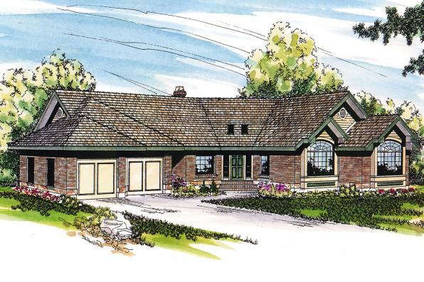 Ranch House Plan - Camrose 10-007 - Front Elevation