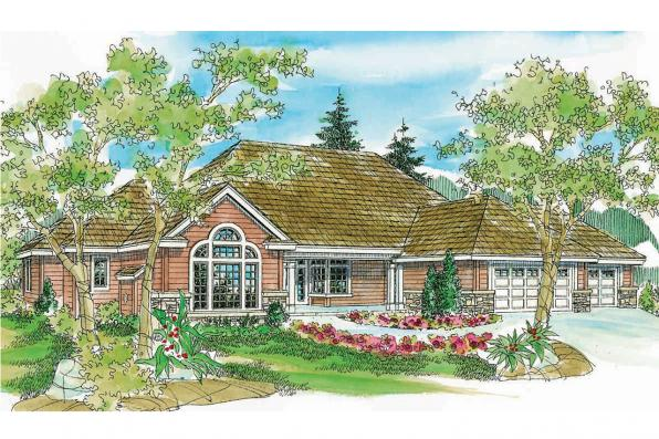 Ranch House Plan - Carson 30-670 - Front Elevation