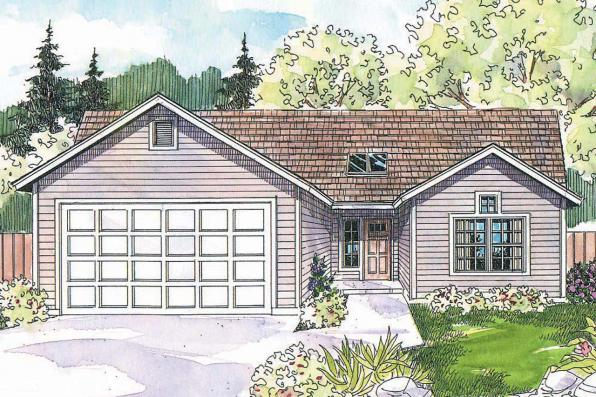 Ranch House Plan - Carter 30-531 - Front Elevation