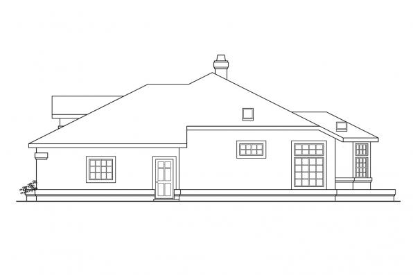 Ranch House Plan - Cibola 10-202 - Left Elevation