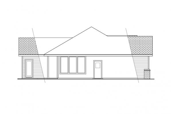 Ranch House Plan - Cottonwood 30-151 - Right Elevation