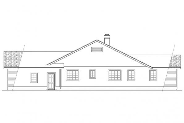 Ranch House Plan - Crescent 10-106 - Left Elevation