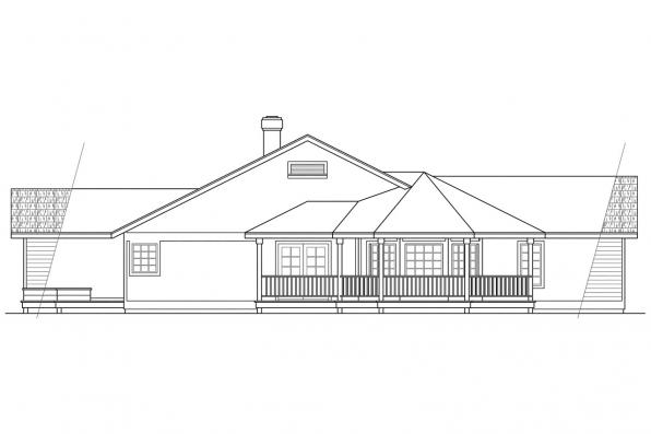 Ranch House Plan - Crescent 10-106 - Right Elevation