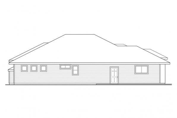 Ranch House Plan - Crownpoint 30-770 - Right Elevation