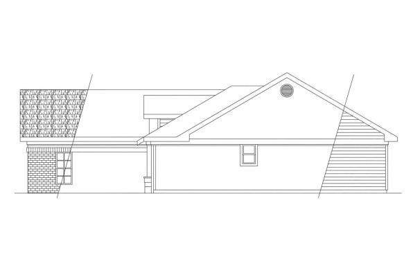 Ranch House Plan - Dakota 10-076 - Left Elevation