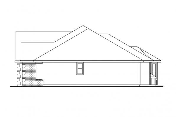 Ranch House Plan - Elmore 30-168 - Left Elevation