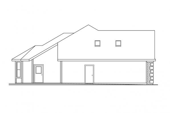 Ranch House Plan - Elmore 30-168 - Right Elevation