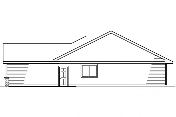 Ranch House Plan - Emory 30-319 - Left Elevation