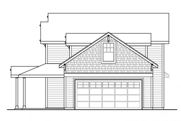 Ranch House Plan - Fairhaven 31-077 - Left Elevation