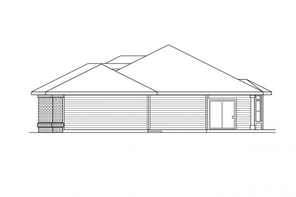 Ranch House Plan - Fernridge 10-175 - Left Elevation