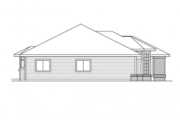 Ranch House Plan - Fernridge 10-175 - Right Elevation