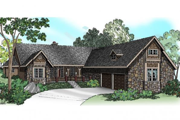 Ranch House Plan - Gideon 30-256 - Front Elevation