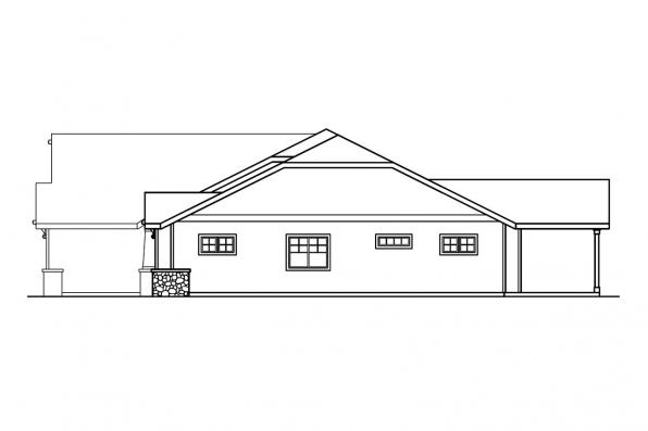 Ranch House Plan - Grayson 30-305 - Left Elevation