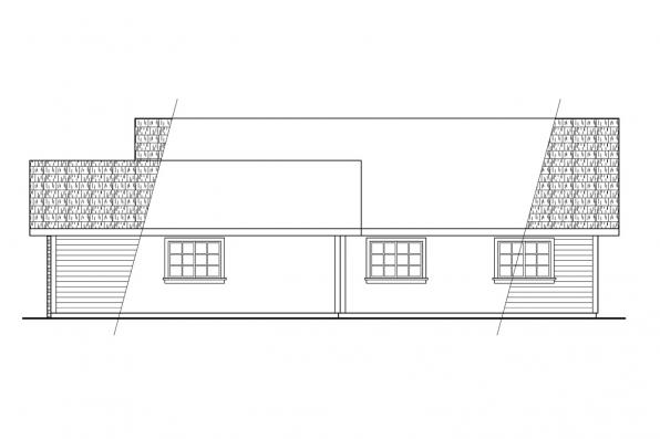 Ranch House Plan - Harney 10-223 - Left Elevation