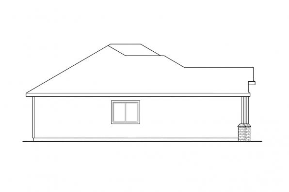 Ranch House Plan - Hillsboro 30-057 - Right Elevation
