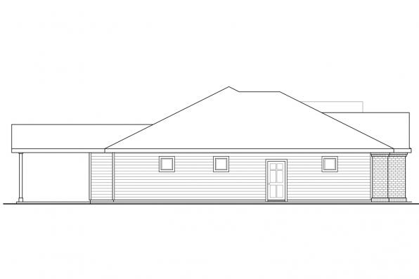 Ranch House Plan - Hollyview 30-554 - Right Elevation