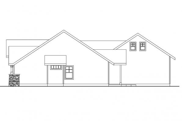 Ranch House Plan - Inglewood 30-538 - Left Elevation