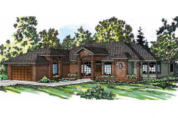 Ranch House Plan - Jamison 10-081 - Front Elevation