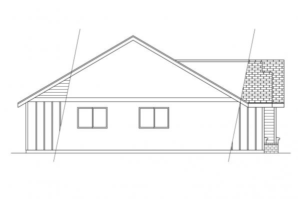 Ranch House Plan - Jerico 10-042 - Right Elevation