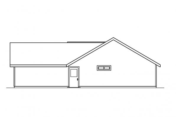 Ranch House Plan - Kennison 30-377 - Left Elevation