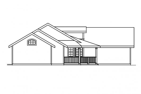 Ranch House Plan - Kennison 30-377 - Right Elevation
