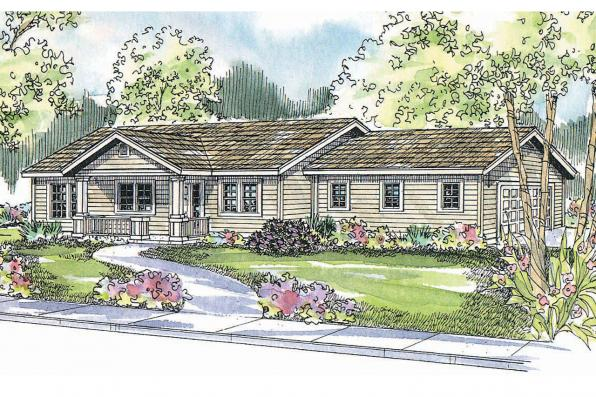 Ranch House Plan - Kettering 30-441 - Front Elevation