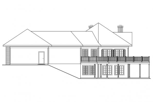 Ranch House Plan - Linfield 10-322 - Left Elevation