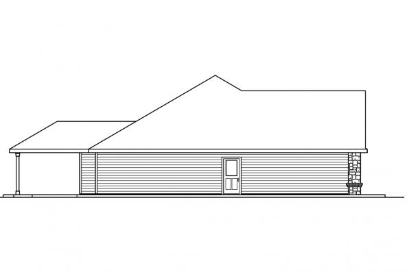Ranch House Plan - Littlefield 30-717 - Right Elevation