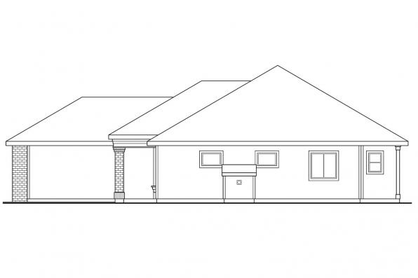 Ranch House Plan - Lorella 30-154 - Left Elevation