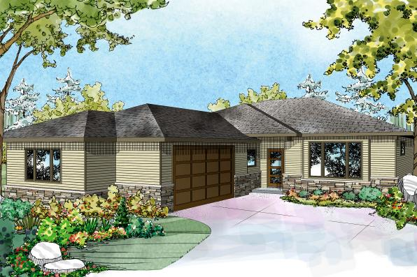 Ranch house plans lostine 30 942 associated designs for House with side garage
