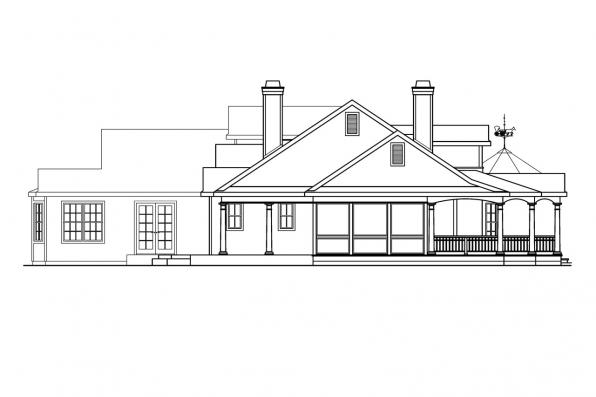 Ranch House Plan - Louisville 10-431 - Right Elevation