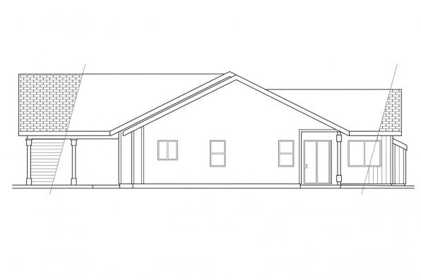 Ranch House Plan - Manning 10-108 - Left Elevation