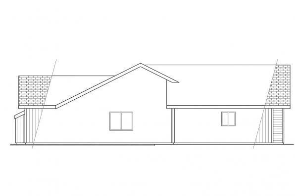 Ranch House Plan - Manning 10-108 - Right Elevation