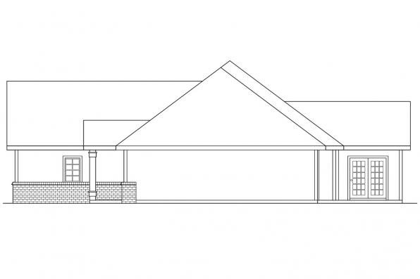 Ranch House Plan - Marcus 30-039 - Left Elevation