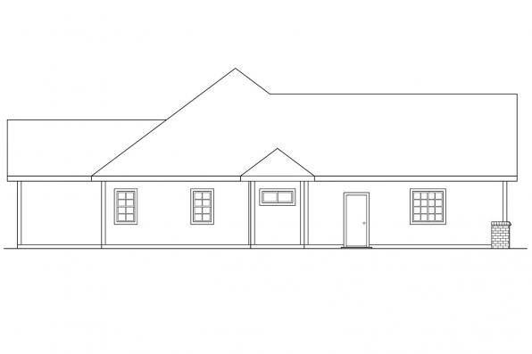 Ranch House Plan - Marcus 30-039 - Right Elevation