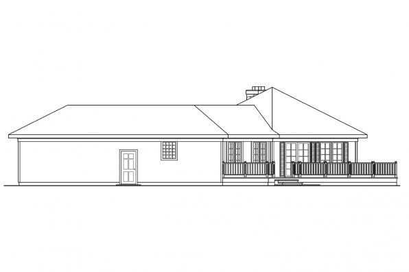 Ranch House Plan - McKinley 10-181 - Left Elevation