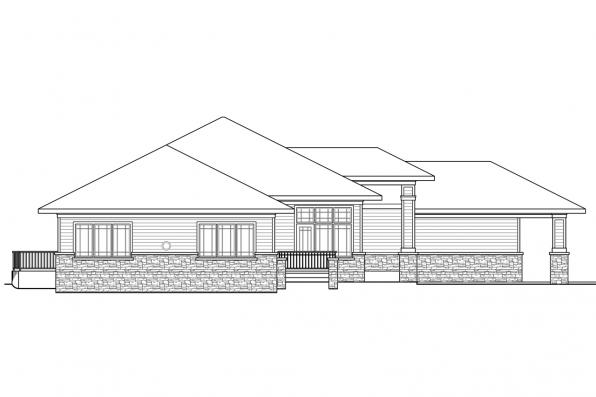 Ranch House Plan - Meadowbrook 30-659 - Right Elevation