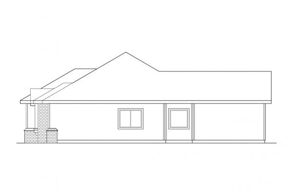 Ranch House Plan - Midland 30-052 - Left Elevation