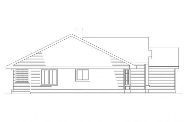 Ranch House Plan - Monroe 10-072 - Right Elevation