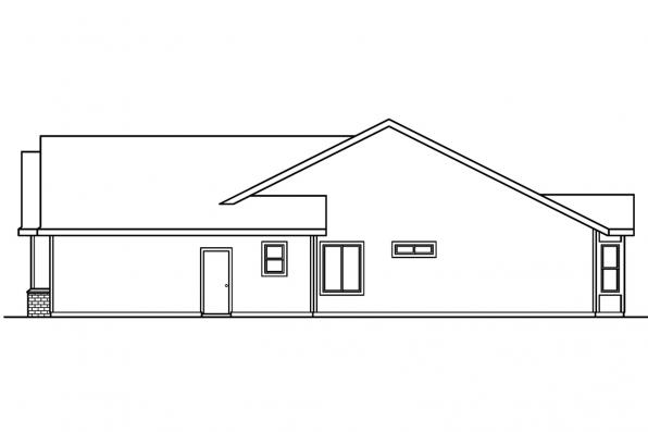 Ranch House Plan - Morely 30-266 - Left Elevation
