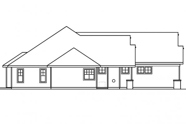 Ranch House Plan - Palmer 30-416 - Right Elevation