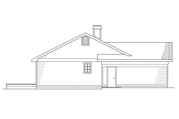 Ranch House Plan - Phoenix 10-061 - Right Elevation
