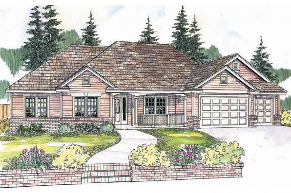 Ranch House Plan - Pleasanton 30-545 - Front Elevation