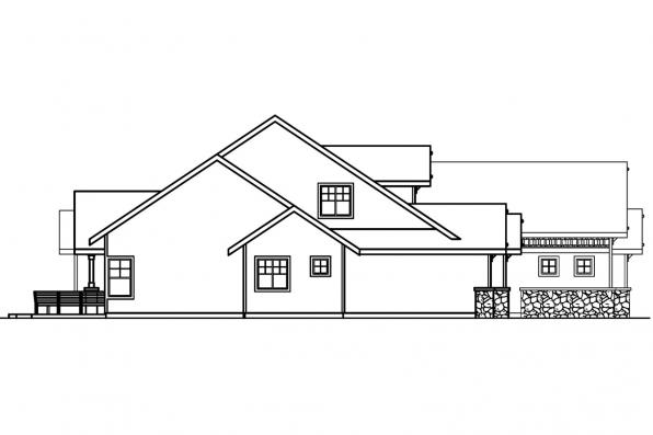 Ranch House Plan - Radisson 30-374 - Right Elevation